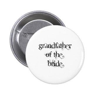 Grandfather of the Bride 6 Cm Round Badge