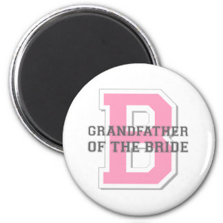 Grandfather of the Bride Cheer 6 Cm Round Magnet