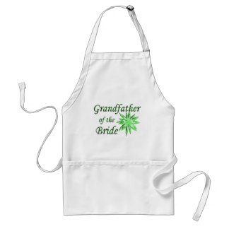 Grandfather of the Bride Green Standard Apron