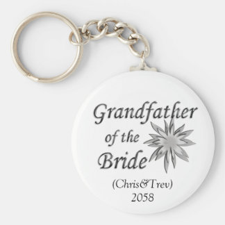 Grandfather of the Bride Key Ring