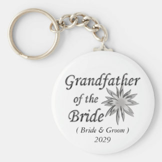Grandfather of the Bride Key Chain