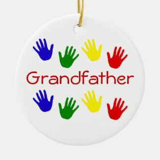 Grandfather Round Ceramic Decoration