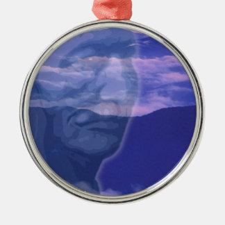 Grandfather Silver-Colored Round Decoration