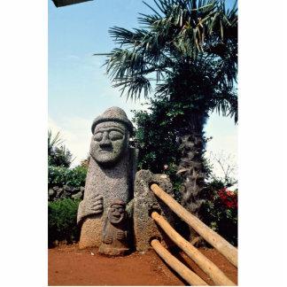 Grandfather statue, Cheju-do Island, South Korea Standing Photo Sculpture
