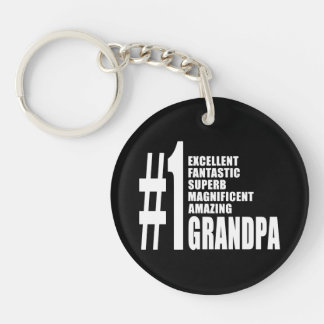 Grandfathers Birthdays : Number One Grandpa Single-Sided Round Acrylic Keychain