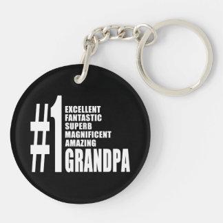 Grandfathers Birthdays : Number One Grandpa Double-Sided Round Acrylic Keychain