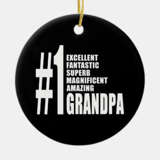 Grandfathers Birthdays : Number One Grandpa Round Ceramic Decoration