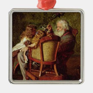 Grandfather's Jack-in-the-Box Silver-Colored Square Decoration
