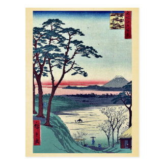 Grandfather's teahouse, Meguro by Andō, Hiroshige Postcard