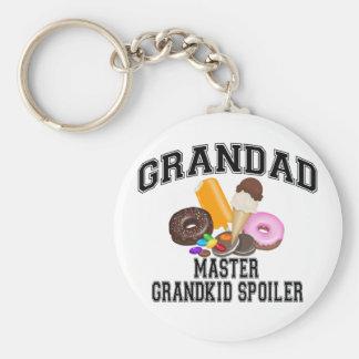 Grandkid Spoiler Grandad Basic Round Button Key Ring