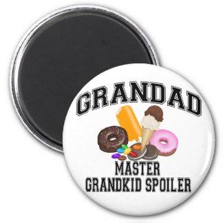 Grandkid Spoiler Grandad 6 Cm Round Magnet