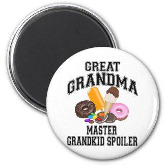 Grandkid Spoiler Great Grandma 6 Cm Round Magnet