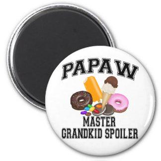 Grandkid Spoiler Papaw Magnet