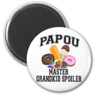 Grandkid Spoiler Papou 6 Cm Round Magnet