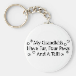 Grandkids are Animals Basic Round Button Key Ring