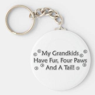 Grandkids are Animals Basic Round Button Key Ring