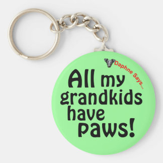Grandkids have paws key chain