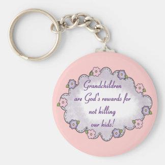 Grandkids Rewards Basic Round Button Key Ring
