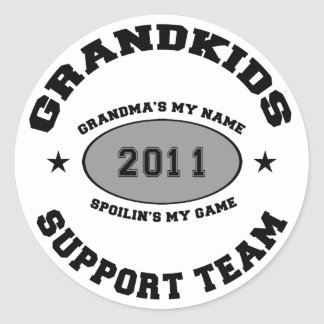 Grandkids Support Team Grandma 2011 Stickers