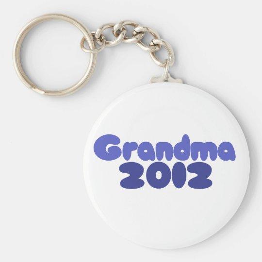 Grandma 2012 basic round button key ring