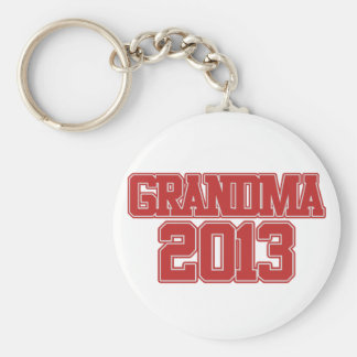 Grandma 2013 basic round button key ring