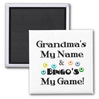 Grandma and Bingo Magnet