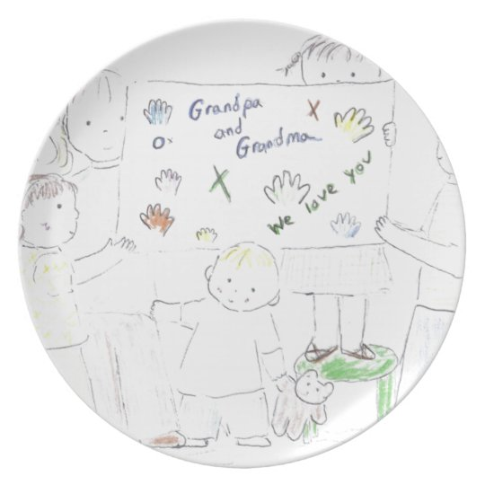 Grandma and Grandpa Plate