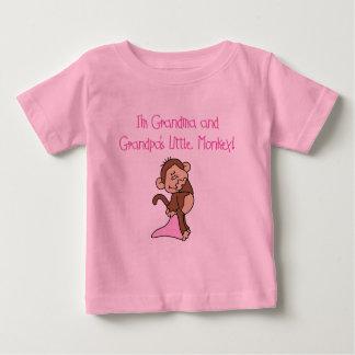 Grandma and Grandpa's Monkey - Pink Baby T-Shirt
