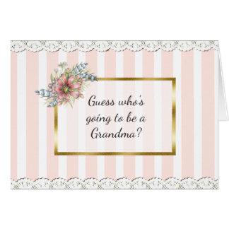 Grandma Announcement Card
