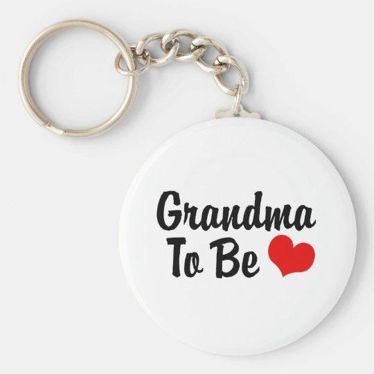 Grandma Basic Round Button Key Ring