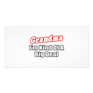 Grandma Big Deal Personalized Photo Card