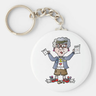 Grandma Bingo Basic Round Button Key Ring