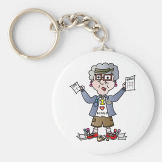Grandma Bingo Key Ring