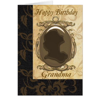 Grandma Birthday Card With Cameo