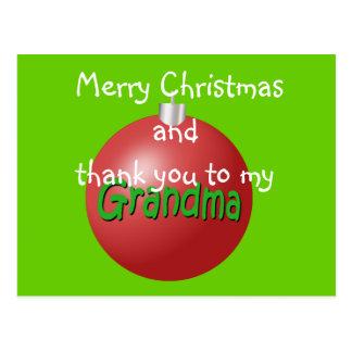 Grandma  Christmas ornament postcard