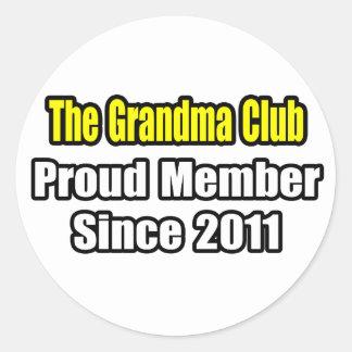 Grandma Club Proud Member Since 2011 Round Sticker