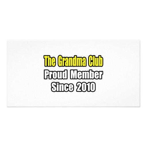 Grandma Club...Since 2010 Photo Card Template