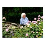 Grandma Cutting Roses