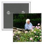 Grandma Cutting Roses Badge