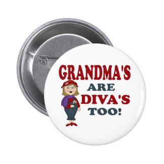 GRANDMA DIVA 6 CM ROUND BADGE