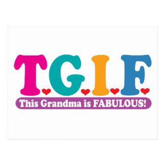 Grandma Fabulous Postcard