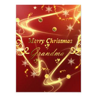 grandma golden text 17 cm x 22 cm invitation card