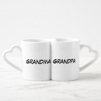 """""""Grandma/Grandpa"""" Nesting Mug Set"""