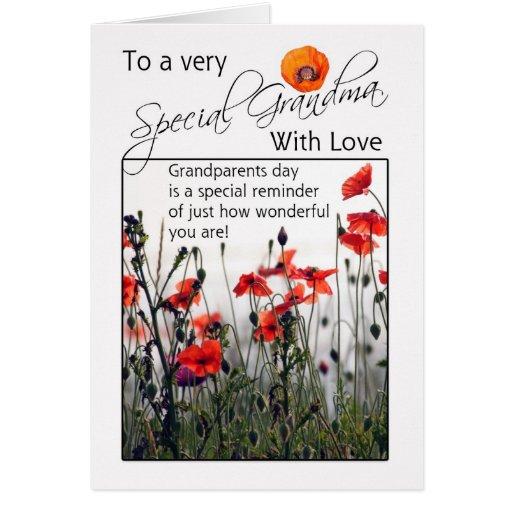 Grandma, Grandparents Day Card - Wild Poppies