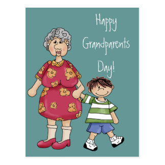 Grandma & Grandson (Grandparent Designs) Postcard