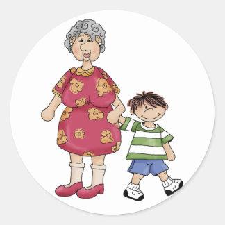 Grandma Grandson Grandparent Designs Stickers