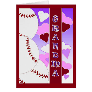 Grandma - I Love You More Than Baseball Valentine Card