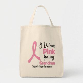 Grandma - I Wear Pink - Breast Cancer Tote Bag