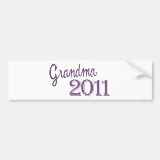 Grandma in 2011 bumper stickers