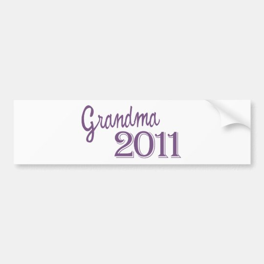 Grandma in 2011 bumper sticker